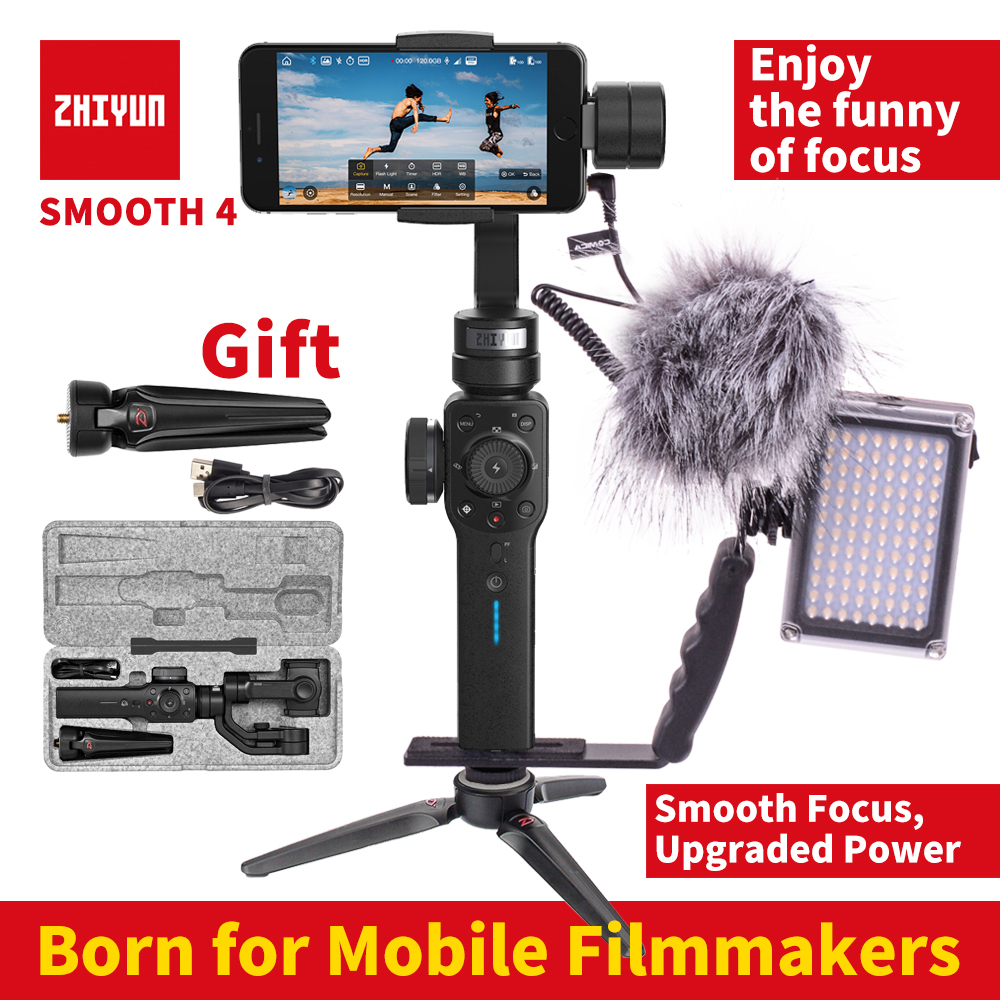 Zhiyun Smooth 4 smartphone 3 Axis gimbal stabilizer Mobile video steadicam for iphone/Android action camera VS Smooth Q купить в Москве 2019