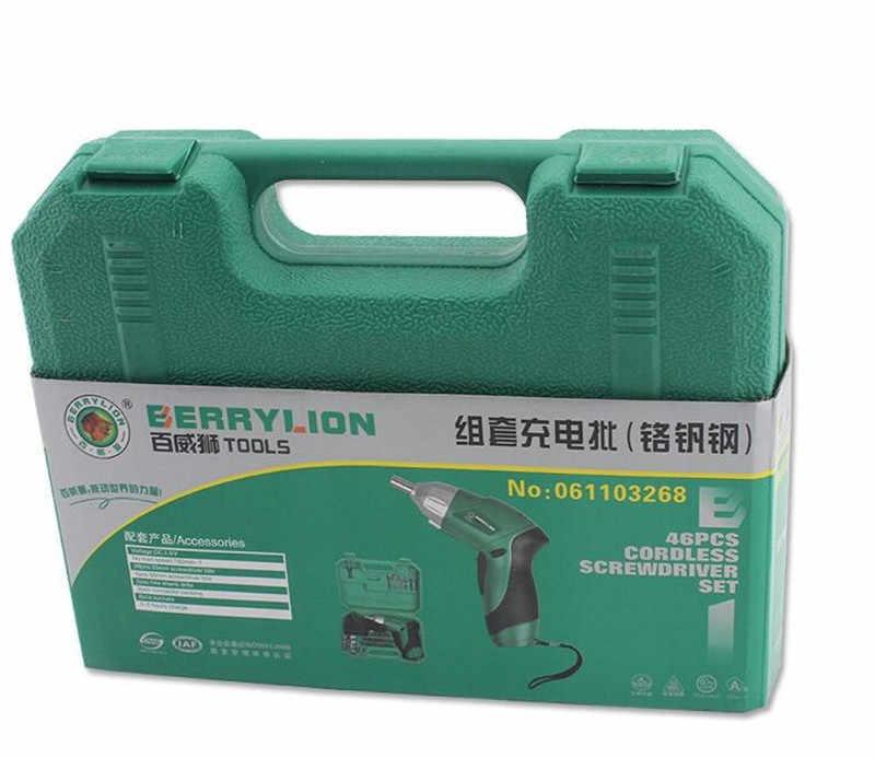 Chave de fenda 3.6 v Furadeira sem fio Bateria De Lítio Recarregável Householld Tool Set Combinação Dobrável Sem Fio Elétrico