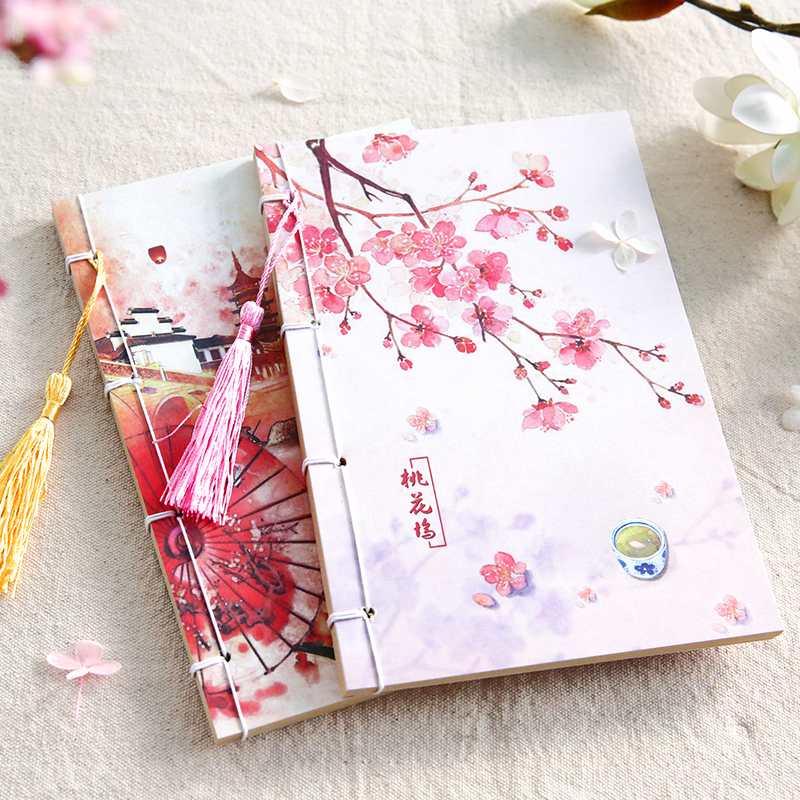 2017 Notebook Day Planner Chinese Style Tsmip Notepad Vintage Diary Retro Kraft Blank Paper Agendas Note Books For School Study freeshipping retro handmade stitching binding cloth covered notebook chinese style lotus printing notebook