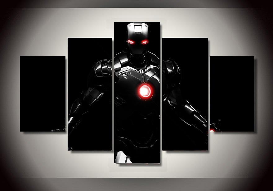 5 Teile/satz Gerahmte HD Gedruckt Cartoon Iron Man Film Wandkunst ...