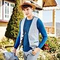 Homens marca Clothing2016Fashion Inglaterra terno colete coletes à prova de colete mens colete formal do casamento slim fit mens clássico xadrez patchwork