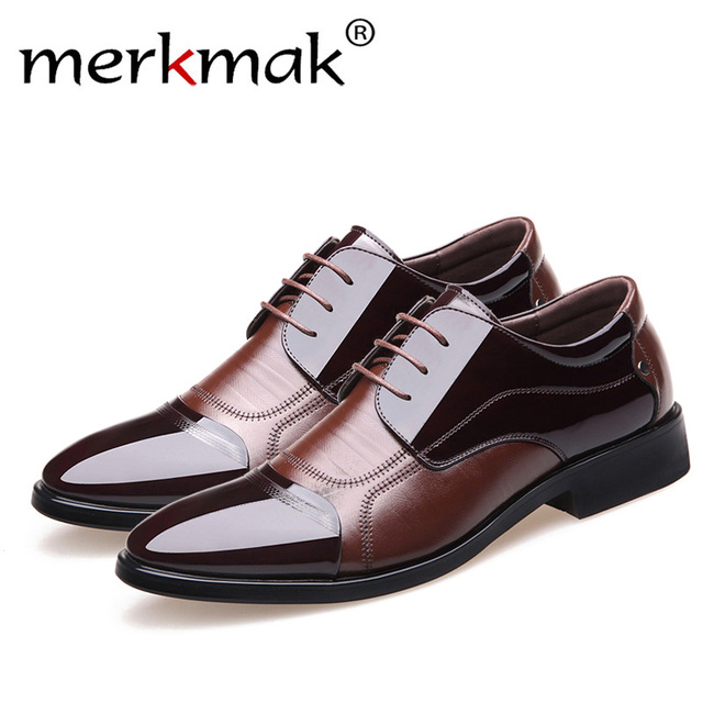 Merkmak 새 봄 패션 Oxford Business Men Shoes Genuine Leather (High) 저 (Quality Soft 캐주얼 숨 Men's 츠 Zip Shoes