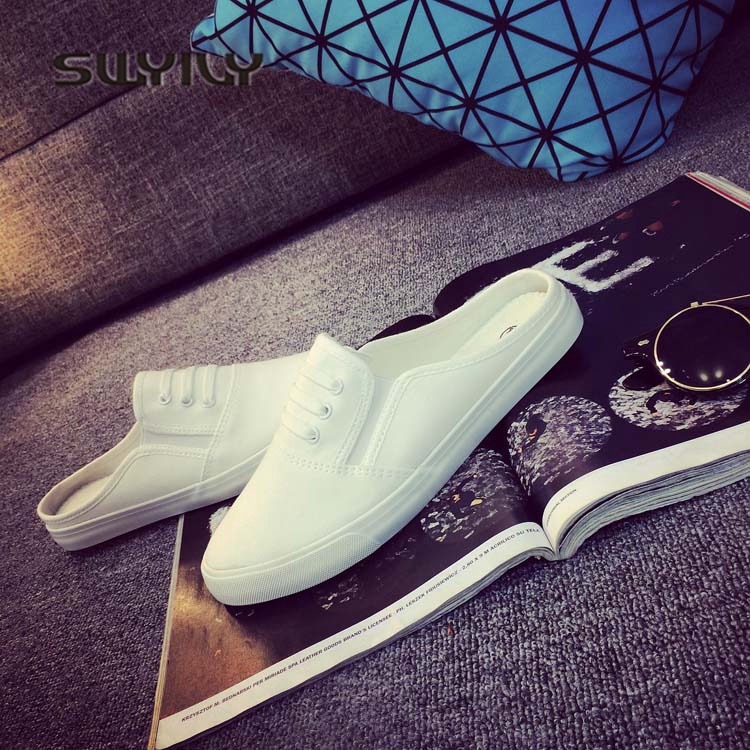 SWYIVY 44 Unix Sneakers 2018 Spring Summer Woman Canvas Slippers Lovers Casual Slip On Lazy Shoes Female Breathable Sneakers