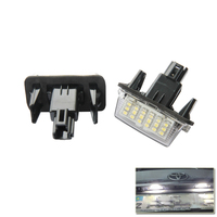 2x Car License Plate Lamps 3528 18SMD LED Lights For Toyota Prius C Yaris Camry Auris
