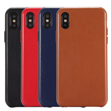 Original Phone Cases For iPhone XS Genuine Leather Case Luxury Slim Good Touch Feeling Back Cover Case For Apple iPhone X XS MAX