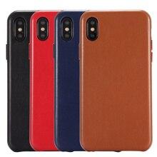 아이폰 XS 정품 가죽 케이스에 대한 원래의 전화 케이스 럭셔리 슬림 좋은 터치 느낌 애플 아이폰 X XS 맥스에 대한 다시 커버 케이스