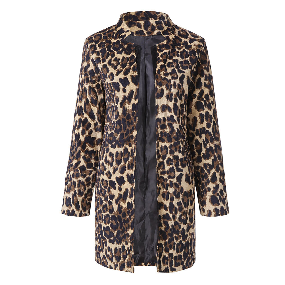 HTB12VyLXtfvK1RjSszhq6AcGFXaO Women Leopard Printed Sexy Winter Warm Wind Coat Cardigan Long Coat Casual streetwear Cardigan  #1019 A#487