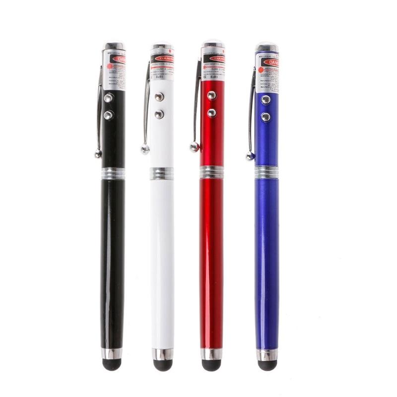 4 в 1 светодиодный фонарик лазерная указка Сенсорный экран Стилусы Шариковая ручка для Планшеты ноутбука
