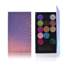 1pc Fish-scale Empty Magnetic Eyeshadow Palette Mermaid Eye Shadow Blusher Powder Fundation Refill Palette Cosmetics Makeup Tool(China)