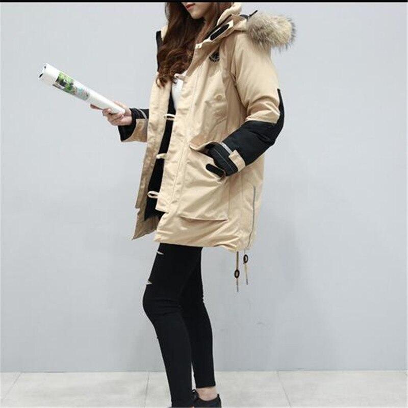 Winter Cotton Jacket Latest Fashion Women Coat Splicing Hooded Fur collar Down jacket Big yards Loose Thickening Warm Coat G2738