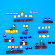 90/64Pcs fridge magnet Super Mario Fridge Magnets Refrigerator Message Sticker Children Student Toys Birthday Gift