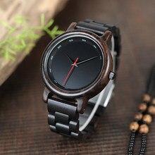 1cc5da79e بوبو الطيور الأبنوس ووتش المياه الكوارتز حركة الرجال ساعة نمط خشبية حزام ساعة  اليد relogio masculino B-P10