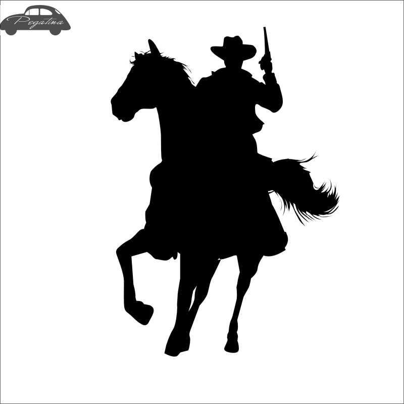 الحصان ركوب سباق صائق سيارة كاوبوي ملصق سباق الخيول المشارك الفينيل صور مطبوعة للحوائط Pegatina ديكور جدارية ملصق