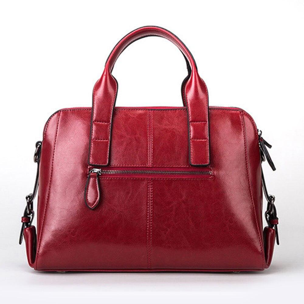 DIGERUI femmes en cuir véritable sacs Totes Messenger sacs Designer de luxe marque sac femme sac à main en cuir de vache sacs à main SJ011-in Sacs à poignées supérieures from Baggages et sacs    3