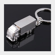 Wholesale 100pcs mini metal trucks keychain creative high quality lorry car keyring bijoux promotion gift lovely key chains G15(China)