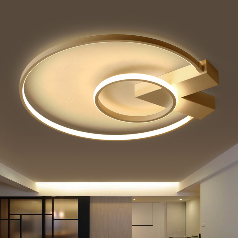 Surface Mounted Round Modern Led Ceiling Lights For Study Room Bedroom Indoor Home Aluminum Lampshade Led Ceiling Lamp Fixtures