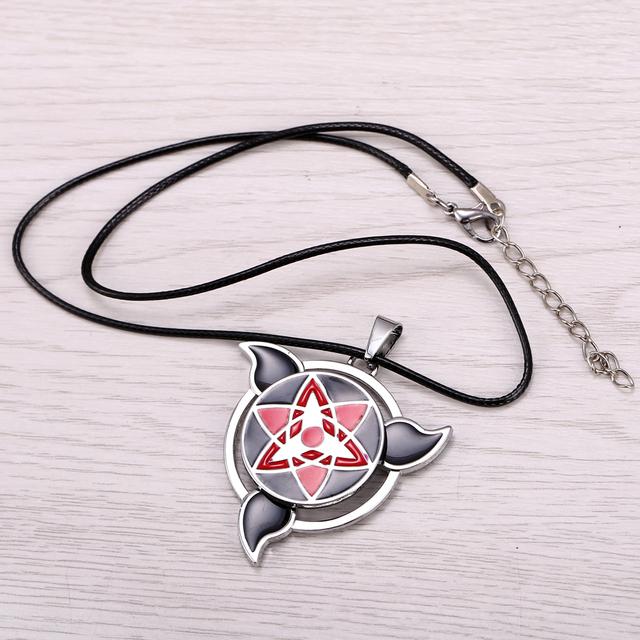 Naruto Necklace Rotatable Sasuke Mangekyou Sharingan Pendant