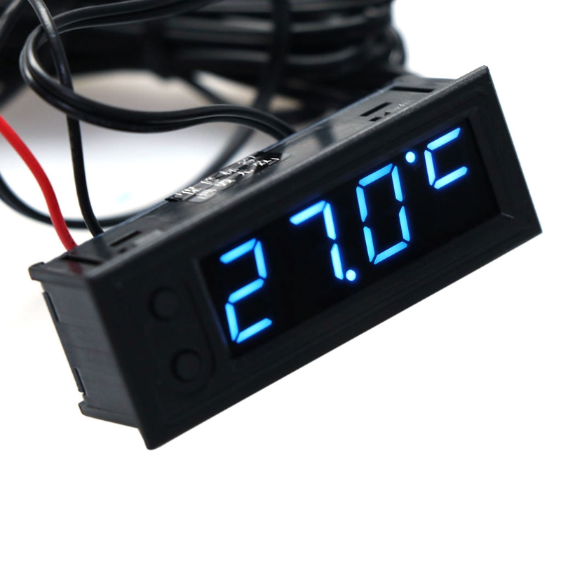 DIY Multifunction Clock Car Temperature Battery Voltage Monitor Voltmeter DC 12V LS'D Tool electric racer car battery voltmeter gauge black silver dc 12v