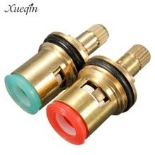 2 шт стандартный 1/2 керамический кран картридж смеситель для воды внутренний кран дисковый клапан четверть поворота картриджи ручка ремонтный переключатель