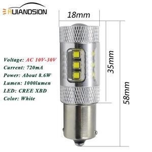 Image 4 - 2X80W 0.88A 1156 P21W Led BA15S BAU15S PY21W Lamp 16SMD XB D Chips Geen Polar 10 30V Lamp Voor Auto Remlichten Wit Rood Amber