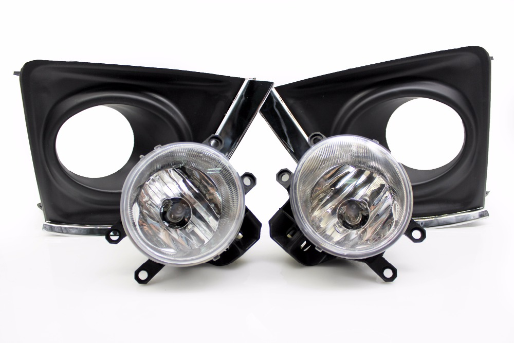 1:1 replacement Toyota Corolla fog light lamp assembly fog lights 2014 2015 2016 include molding edging chrome and fog light new halogen fog light lamp with wires and button for toyota corolla 2014 altis