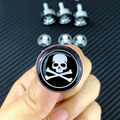 Standard Metal License Plate Frame Bolts M6 Screw Caps Fastener Chrome Skull Head Demon Devil Cross Bone