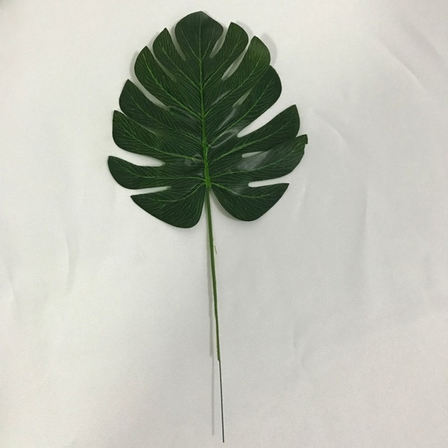 1PC Artificial Glue Real Touch Monstera Flowers Turtle Silk cloth Wall Plant Leaf Branch Wedding Home Decor Fake Green Plant