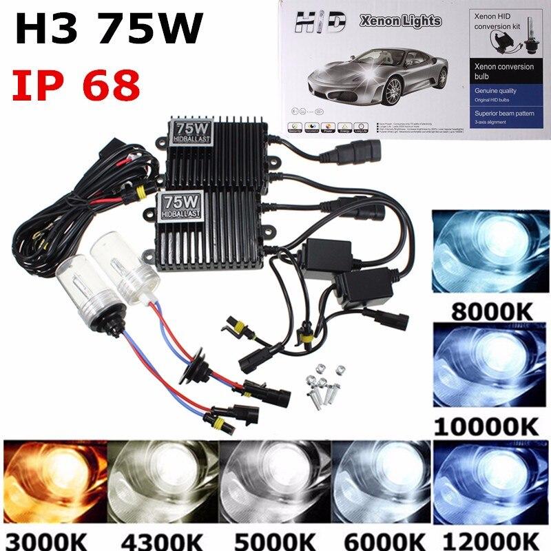 Phare au xénon de voiture 75 W D1D D2S D3S D4S D1R D2R D4R lumière de voiture au xénon HID AC ampoule Zenon Auto lampe 4300/5000/8000/10000/12000 K