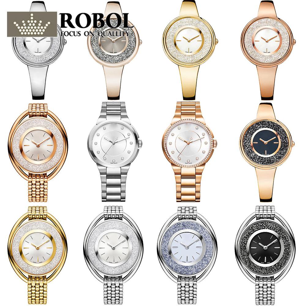 все цены на ROBOL High Quality SWA Ladies ashion Swan Models Alloy Watches Lasting Wear Without Deformation Pictures Please Contact Seller онлайн