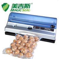 MAGIC SEAL Full Automation Small Commercial Home Food Vacuum Sealer Packaging Machine With Vacuum Bag Built