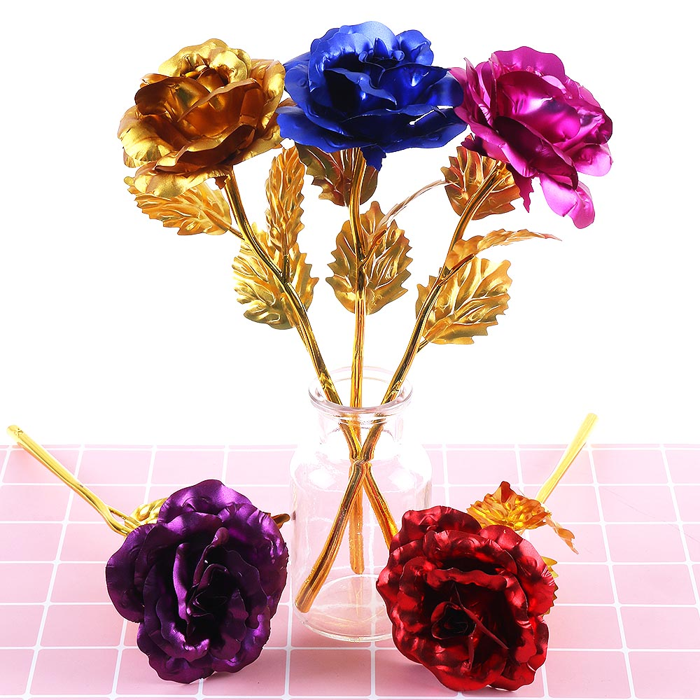 24K Gold Plated Golden Rose Flower Valentine/'s Day Birthday Surprise Gifts US