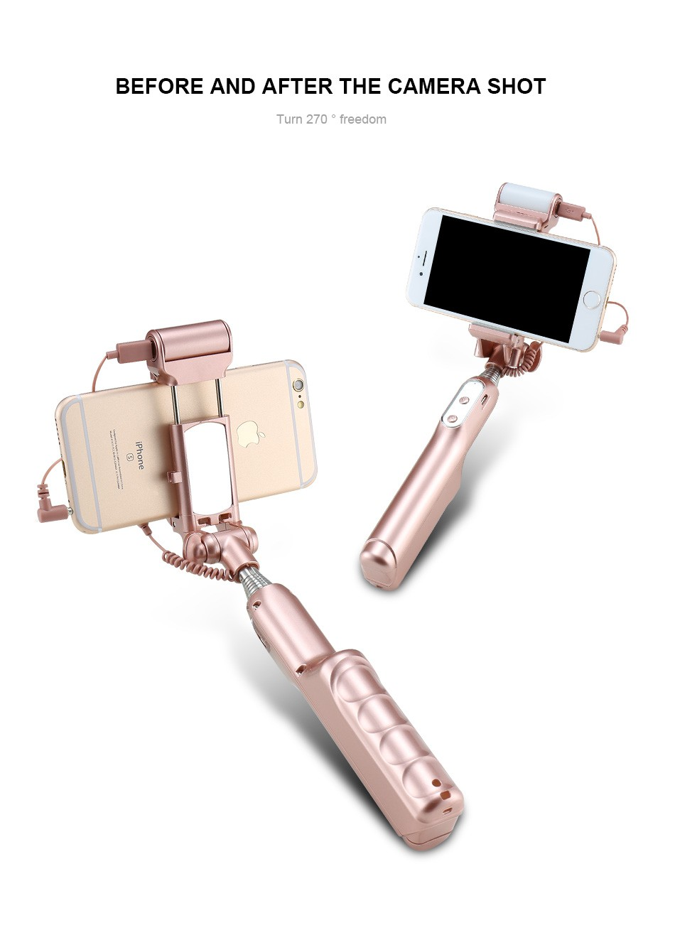 Universal Phone Camera Selfie Stick Self-timer Monopod For iPhone Samsung Huawei IOS Android Wired Handheld Extendable Kickstand (10)