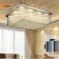High Quality Crystal Ceiling Lights Modern Ceiling Lamp Lustre Living Room Lighting Fixture Clear Crystal LED