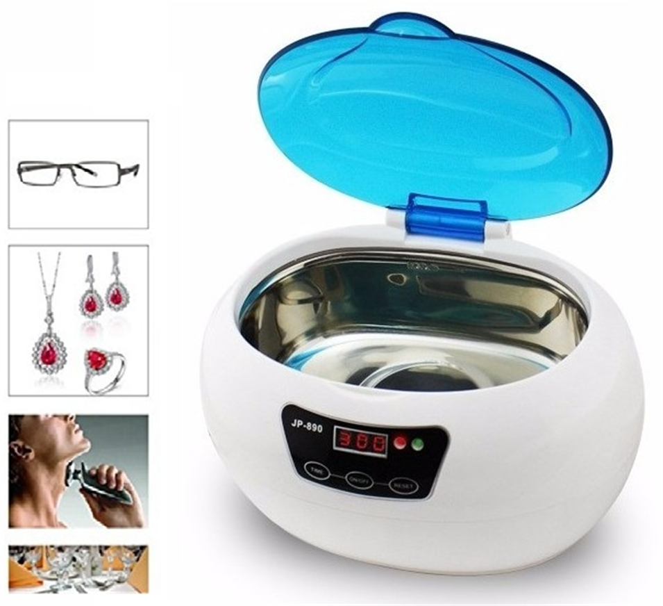 0.6L JP-890 Digital Ultrasonic Cleaner Cleaning Machine Baskets Jewelry Watches Dental Nail Ultrasound Cleaner Ultrasonic Bath dental laboratory equipment 800ml digital ultrasonic bath jewelry glass cleaner cleaning equipment
