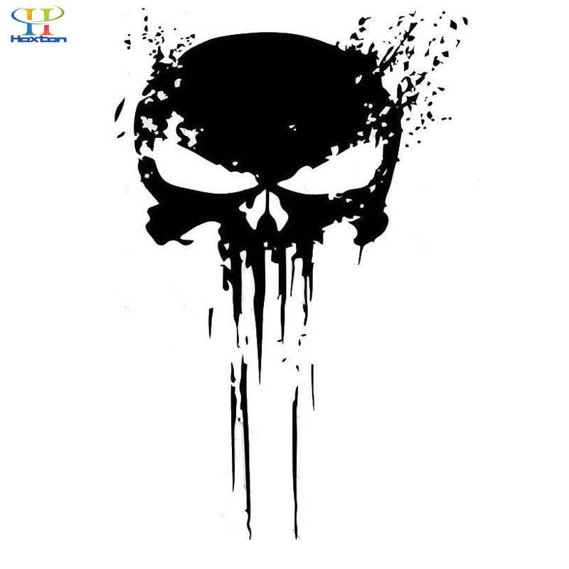 10CM X 15CM puncher skull blood vinyl car decals stickers motorcycles decoration