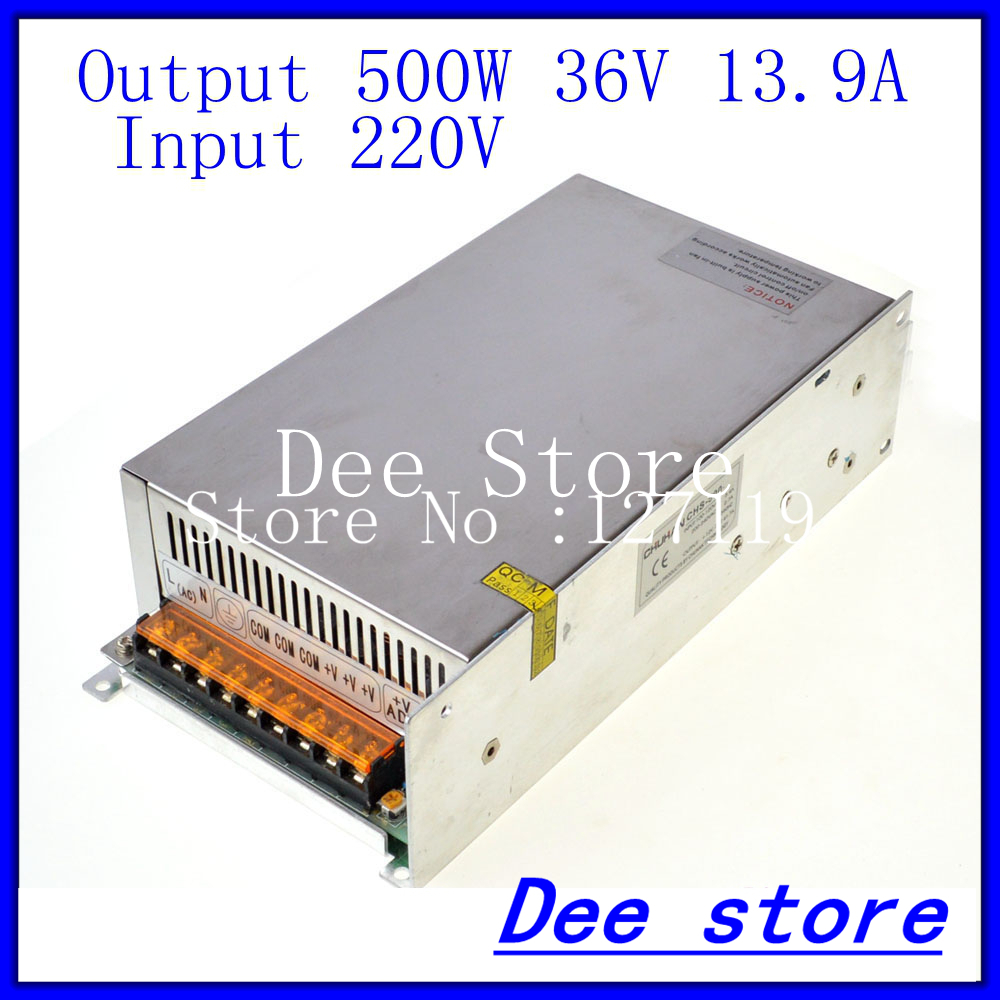 Led driver 500W 36V 13.9A Single Output  ac 220v to dc 36v Switching power supply unit for LED Strip light led driver 1200w 24v 0v 26 4v 50a single output switching power supply unit for led strip light universal ac dc converter