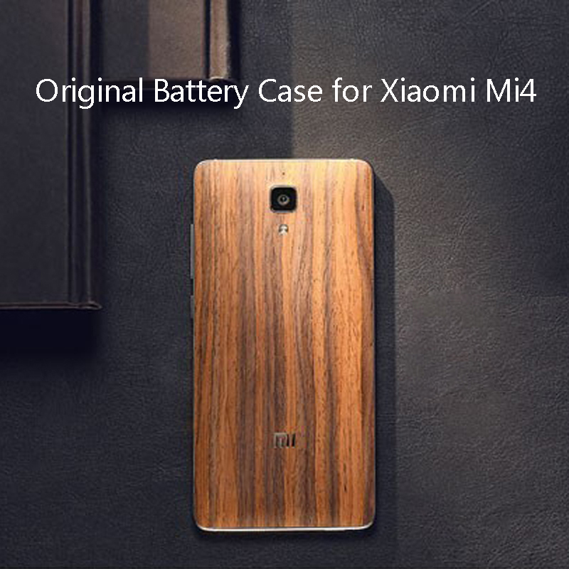 2daa9250a Original Luxury Wood Battery Case for Xiaomi Mi4 Solid Wood Bamboo Back  Battery Cover for Xiaomi Mi 4 Housing Replacement Parts