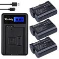 Probty 3 pcs en-el15 enel15 el15 bateria da câmera + carregador usb lcd para nikon d600 d800 d800e d7000 d7100 v1