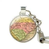 North Carolina Map Key Holder South Carolina State Map Pendant Car Keychain Jewelry Souvenir Keychains Best Friend Jewelry