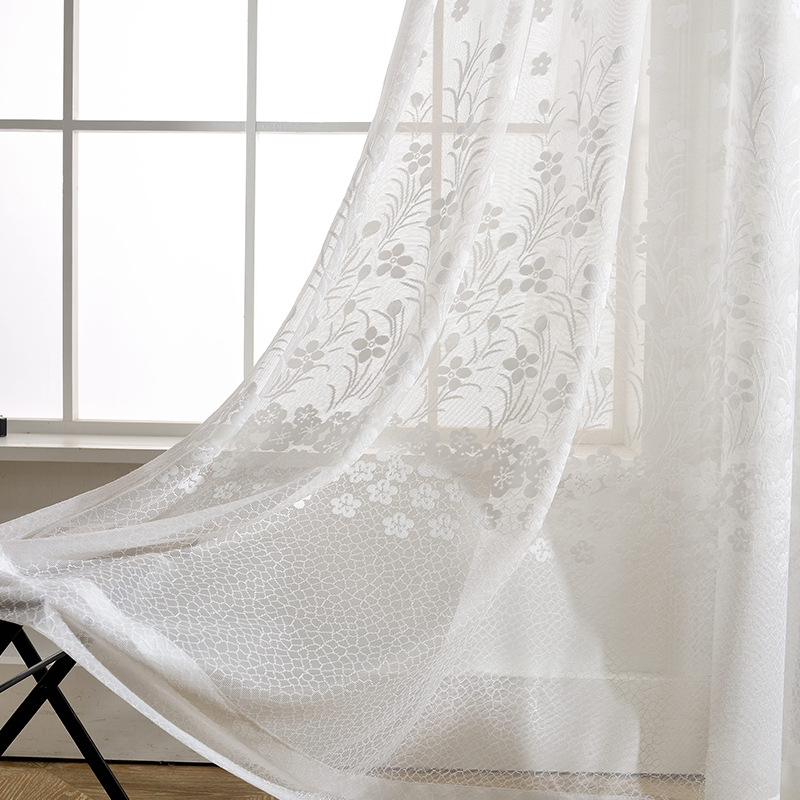 NORNE White Sheer Window Curtain Panels Drapes for Bedroom Living - Home Textile - Photo 4