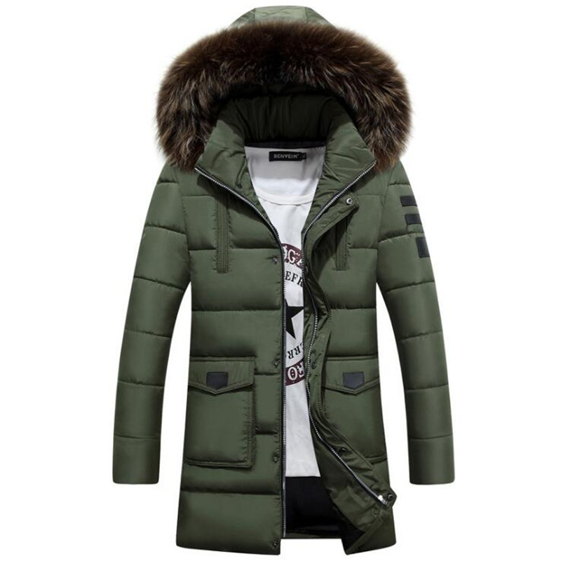 Fashion New Mens Loose Type Long Sleeve Cotton Jacket Parkas Casual Male Leisure Hooded Warm Jacket Clothing Autumn Winter 2017 new mens colors short sleeve cotton tshirt henry kissinger quote absence