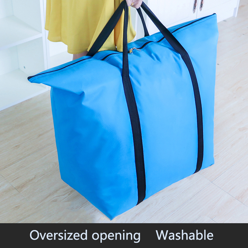 Sturdy Moving Bag Oxford Cloth Waterproof Portable Large Capacity Quilt Bag Thick Extra Large Canvas Woven Duffel Big Bag
