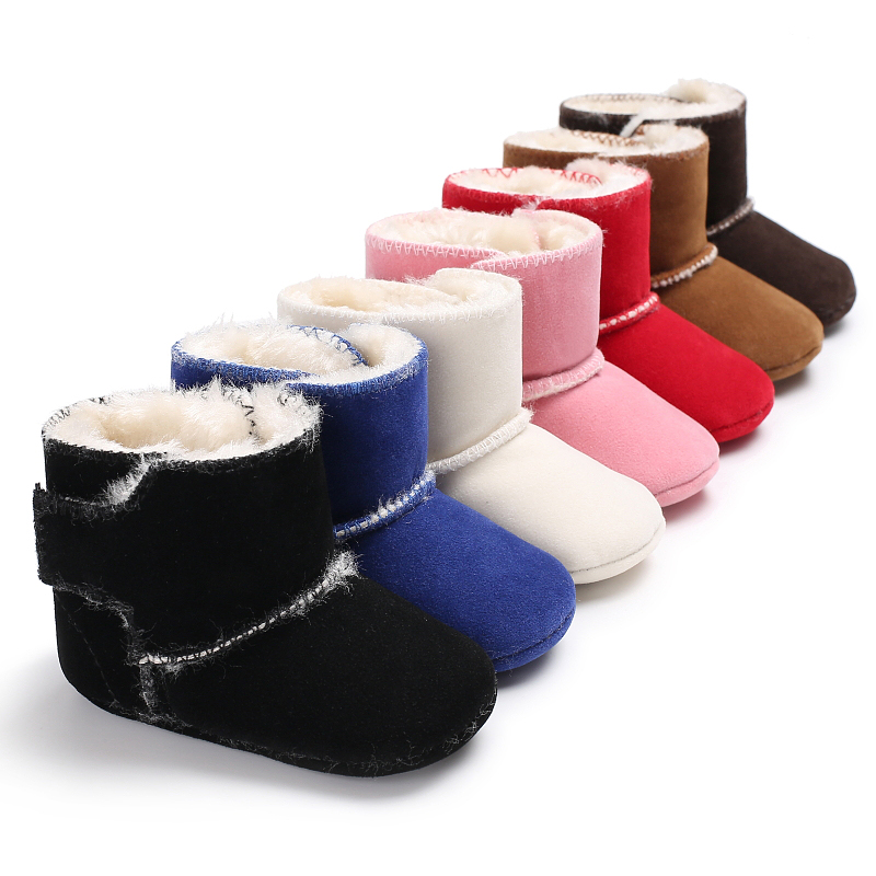 Baby Shoes Winter Newborn Sweet Warm Booties Kids Thick -2085