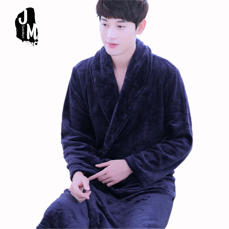 Flannel Winter Couples Bathrobes Women\'s Robes Dressing Gowns For ...