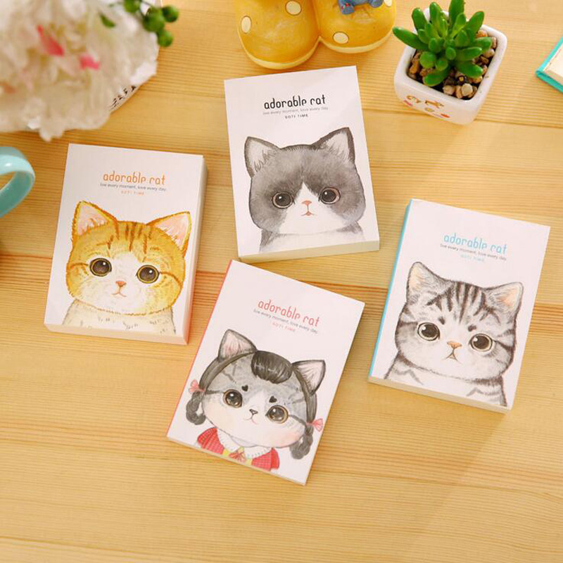 1X Cute Kawaii Cat Vocabulary Notebook Recite Words Learn Foreign Language Planner Student Rewarding School Office Supply