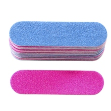 100Pcs Nail Files Double Color Wooden Mini Buffer Sanding 180/240 Disposable Manicure Tools
