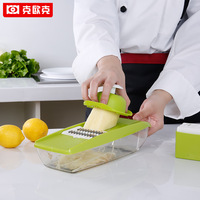 KEOUKE Creative Kitchen Grater Mandoline Slicer Vegetable Cutter with Stainless Steel Blade Manual Potato Grater Carrot Dicer