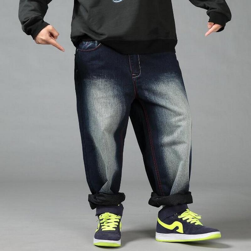 2019 NEW Plus Size Autumn Winter Mens Denim Baggy Jeans ...