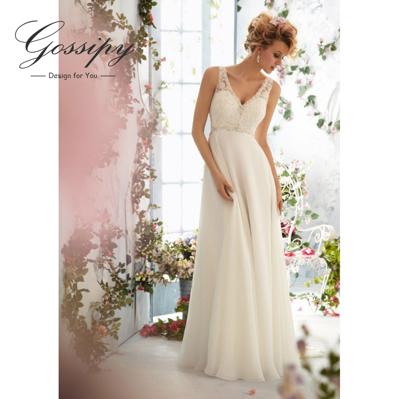 Simple beach wedding dress reviews online shopping for Cheap simple wedding dresses