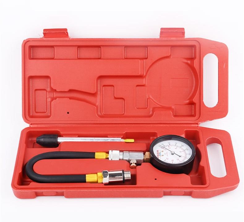 Auto Car Pressure Gauge Motorcycle Petrol Gas Engine Cylinder Compression Gauge Car Meter Test Leakage Diagnostic Tool